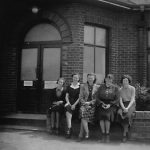 Some of 'The Evacuees' that came from the SARO London office in 1939 to live at the Community Centre.