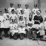 Cast of a pageant performance by Whippingham WI in the 1930s